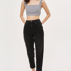 Topshop mom jeans in grey